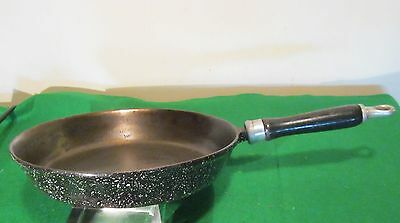 "VTG LL Bean Speckled Porcelain Over Cast Iron 10"" Skillet Frying Pan"