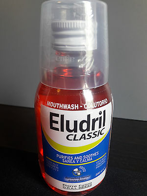 Eludril Bactericide and fungicide, antiplatelet, gingival inflammatory analgesic