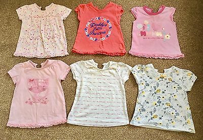 Baby Girls Tops From George - Age 9-12 Months * 6 Pack*