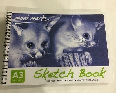 Sketch Book A3 Mont Marte 30 Sheet 150 gsm New Drawing Painting Art Craft