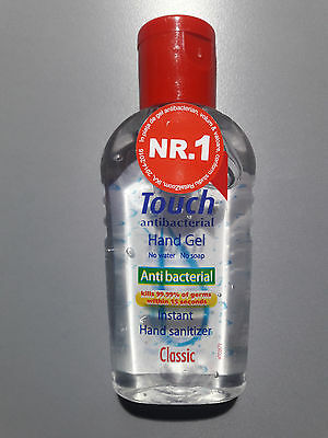 Touch Classic Antibacterial Hand Gel, balanced PH formula that fights bacteria