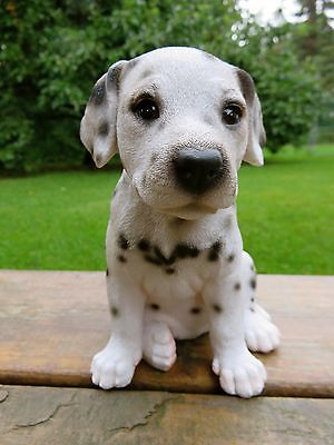 Dalmatian Puppy Statue Figurine Canine Home Decor Resin Pet Sitting   6.5 In.