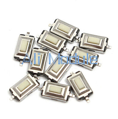 100pcs 3X6X2.5mm Tactile Push Button Switch Tact Switch Micro Switch 2-Pin SMD S
