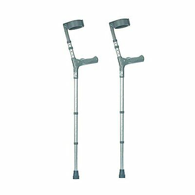 NRS Healthcare Double Adjustable Crutches with Comfy Handle, Medium Height - Pai