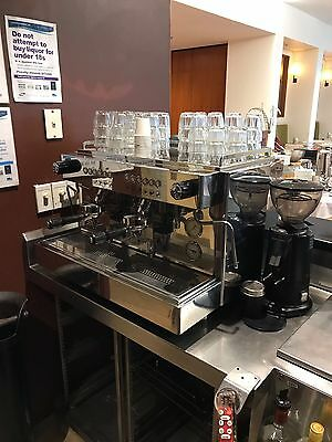 2 Group Rocket Linea Professional Commercial Coffee Machine Free Grinder