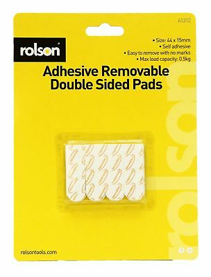 Rolson 12pc Double Sided Adhesive Sticky Fixing Pads Indoor Outdoor DIY 61312