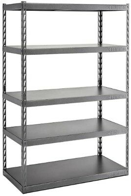 Garage Shelving 72 In. H X 48 In. W X 24 In. D 5 Shelf Steel Unit Storage