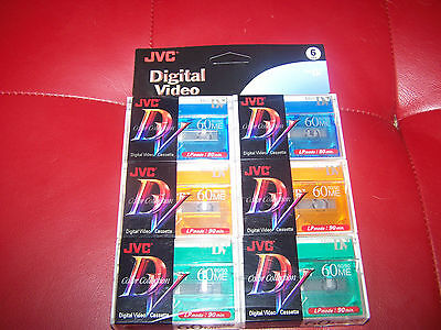 Brand New Color Collection JVC Digital Video Cassettes Pack of 6! Mini DV!