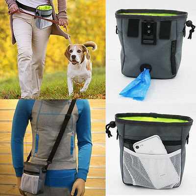 Pet Dog Puppy Training Treat Obedience Feed Bait Snack Belt Pouch Food Bag