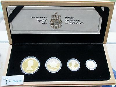 1989 Maple Leaf Set, PROOF, Canada, 1.85 Total Ounce, 9999 Gold Coins