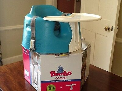 Bumbo Aqua Green Baby Floor Seat and Play Tray Combo (Excellent Condition)