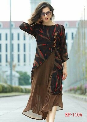 Pakistani Indian Bollywood Kurta Kurti  Designer Women Ethnic Dress Top Tunic