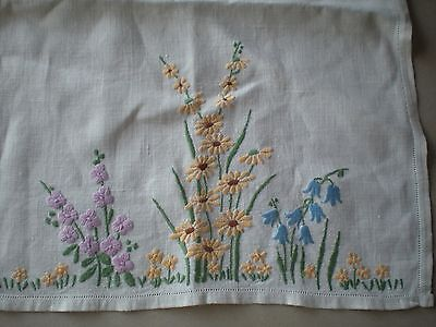 Vintage hand embroidered tray cloth mat