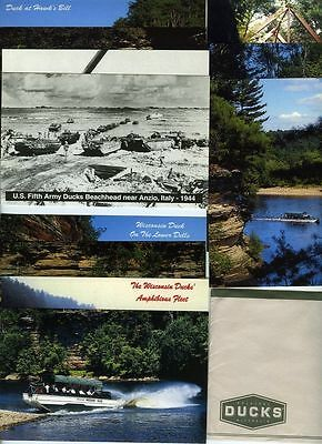 Set of Postcards - Wisconsin Dells Ducks - 1944 WWII Use - Tourist Rides
