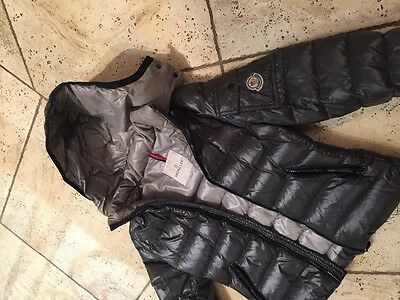 moncler kids puffer winter coat jacket - gray size 12