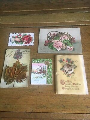 Vintage Souvenir Picture Card Christmas Greeting Cards Used