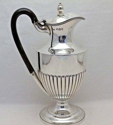 Antique Sterling Solid Silver Wine Ewer or Jug London 1895 (396-9-VGS)
