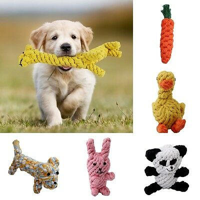 Dog Chew Toy Braided Rope Pet Puppy Cat Molar Teeth Cleaning Bite Training Toys