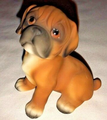 Vintage Boxer Puppy Ceramic Figurine House of Global Art Numbered