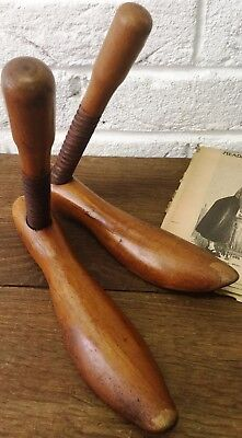 Watts Patent Mens Medium Aged Vintage Wooden Shoe Stretcher/Trees - Display/Prop