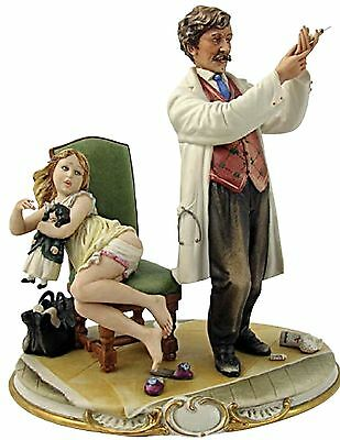 China Capodimonte Doctor with Little girl