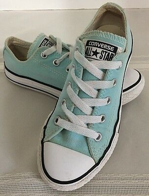 Converse All-Star Chuck Taylor Turquoise Kids/Youth Sneakers Shoes Size 13 EUC