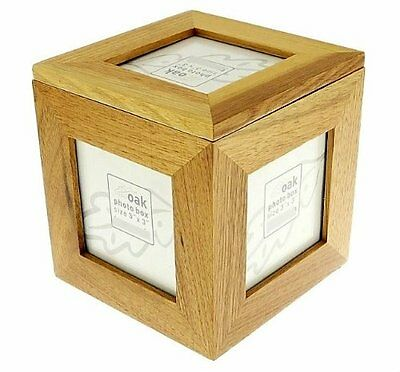 8cf3b62553c Natural Oak Wooden 5 Picture Photo Picture Cube Keepsake Box - 5 Pictures  of 3