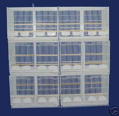 "Small Breeding Cages With Divider, Pack of 6, 24 x 16 x 16""H inches, White 401"