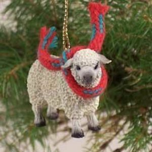 White Sheep Christmas Ornament SH22