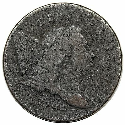 1794 Liberty Cap Half Cent, Normal Head, C-4a, R.3, VG-F detail