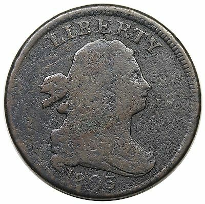 1803 Draped Bust Half Cent, scarce C-2, R.4, VG detail