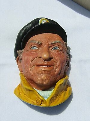 "Bossons ""SKIPPER""  Head England Chalkware Plaque Bust Vintage"