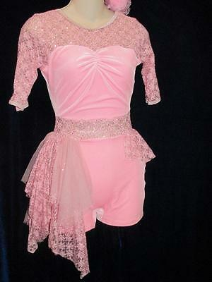 Pink Velvet Stretch Side Skirt Curtain Call Costume CosPlay ASM