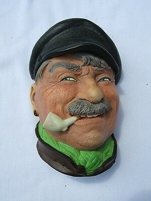"Bossons ""BARGEE"" Head England Chalkware Plaque Bust Vintage"
