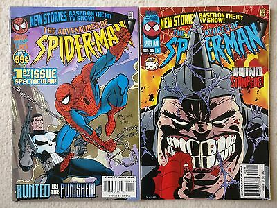Adventures of Spider-Man #1 + 5, Marvel Comics, Based on TV Show, Punisher Rhino