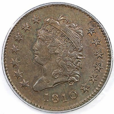 1810 S-285 R-2 PCGS AU 55 CAC Classic Head Large Cent Coin 1c