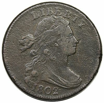 1802 Draped Bust Large Cent, S-242, VF+ detail