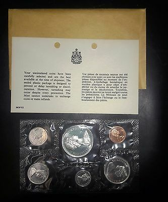 1967 Royal Canadian Mint Proof-Like 6 coin set, with Envelope