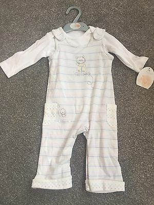 Mothercare Baby Boy Girl Dungaree Outfit Set Age 3-6 Months BNWT