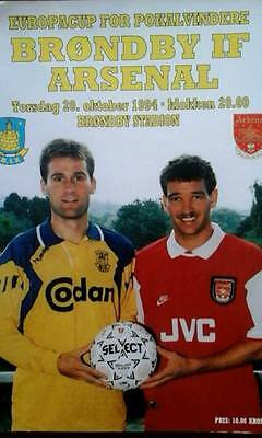 Brondby V Arsenal 20/10/1994 European Cup Winners Cup