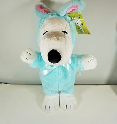 Easter Gemmy Peanuts 19 inch Snoopy Blue Easter Bunny Porch Greeter New w tags