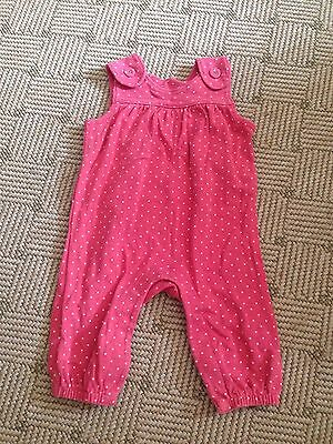 Marks And Spencer Baby Girl Spotty Romper Age 0-3 Months