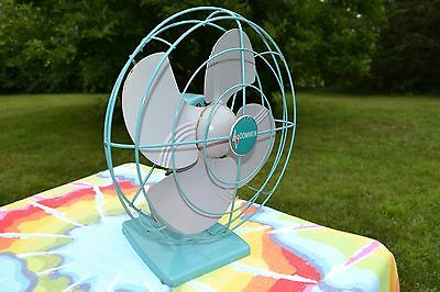Vintage Dominion 12 inch Four Blade Fan Works Perfectly
