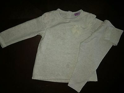 girls 9-12 months bundle sweater shirt jumper top tunic & leggings floral next