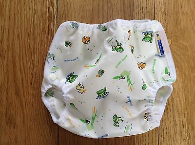 BRAND NEW Motherease airflow medium nappy wrap / cover - wetlands pattern