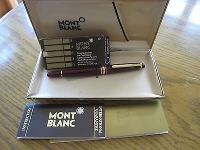 Montblanc Meisterstuck 144 Classique Bordeaux Fountain Pen, 1985, Black section!