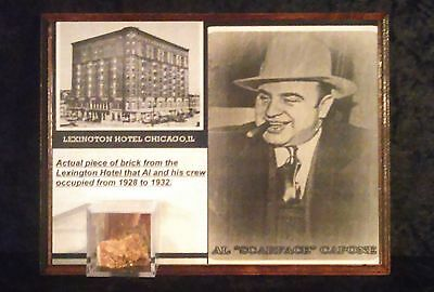 AL CAPONE brick piece from the lexington hotel his headquarters in chicago NICE!