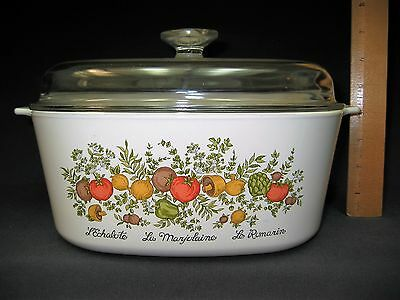 Corning Ware Spice of Life 5 Quart Dutch Oven Casserole Dish With Glass Lid