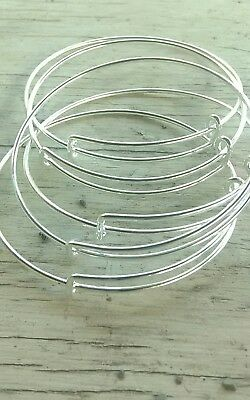 15pc Expandable bracelet lot Silver plated For charm Bracelet jewelry making