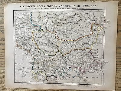 1828 Ancient Balkans By Aaron Arrowsmith Hand Coloured Antique Map 189 Yrs Old